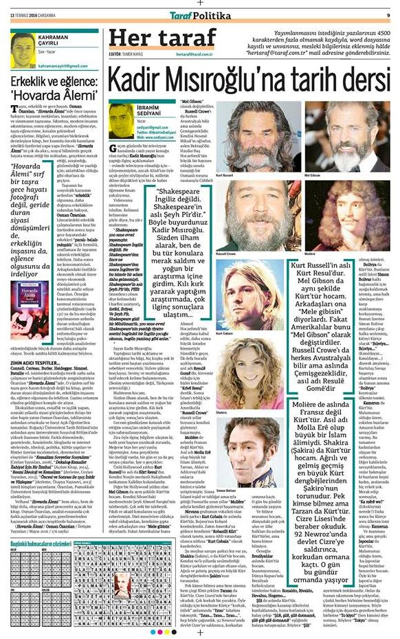 Taraf Gazetesi, 13.07.2016