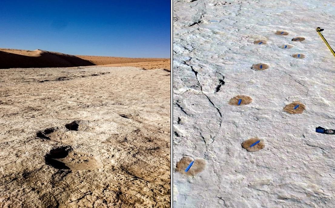 Arabistan'da 120.000 Yıllık İnsan Ayak İzleri Bulundu